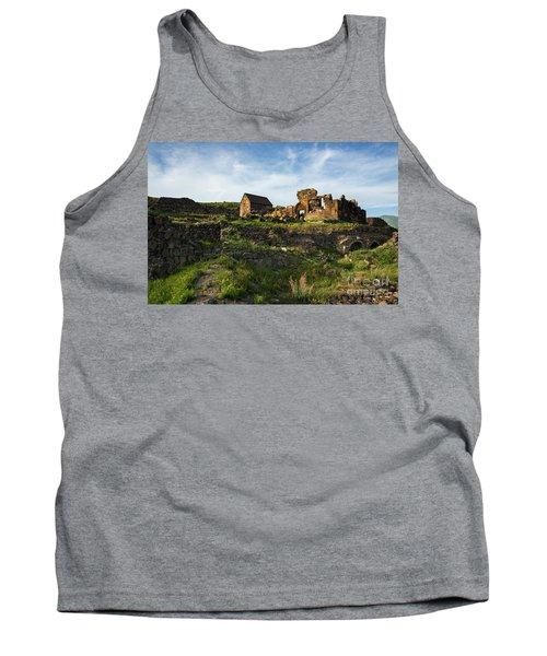 Splendid Ruins Of St. Sargis Monastery In Ushi, Armenia Tank Top by Gurgen Bakhshetsyan