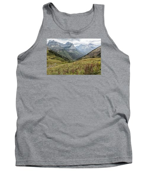 Tank Top featuring the photograph Splendor From Highline Trail - Glacier by Belinda Greb