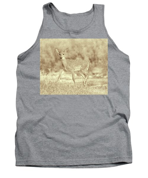 Spotted Fawn Tank Top by Jim Lepard