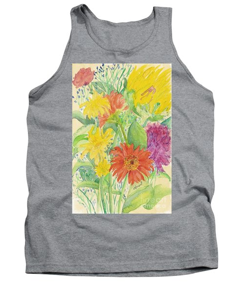 Tank Top featuring the painting Spring Bouquet  by Vicki  Housel
