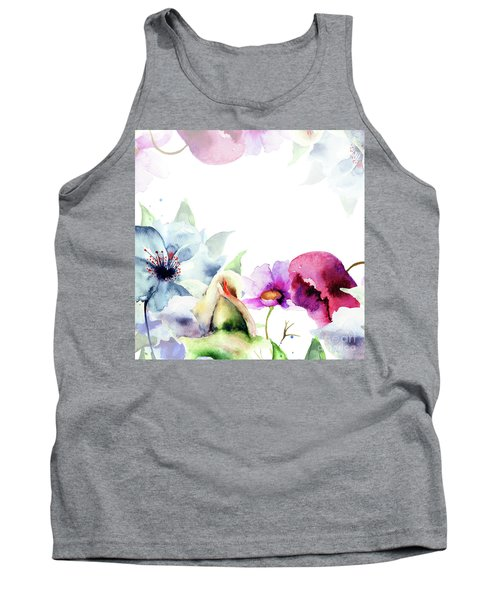 Spring Floral Background Tank Top