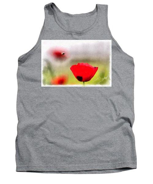 Spring Flowering Poppies Tank Top