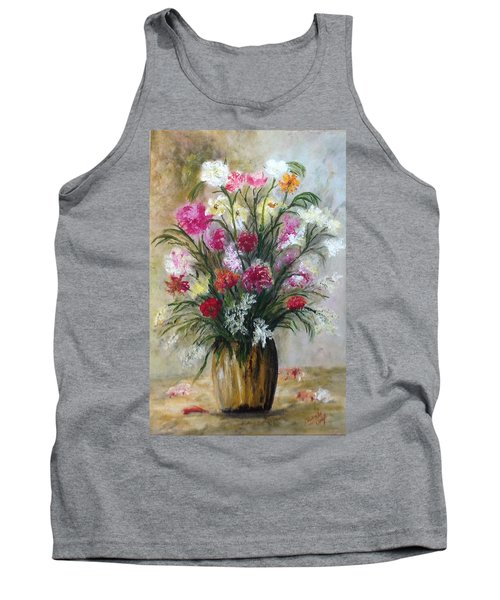 Tank Top featuring the painting Spring Flowers by Renate Voigt