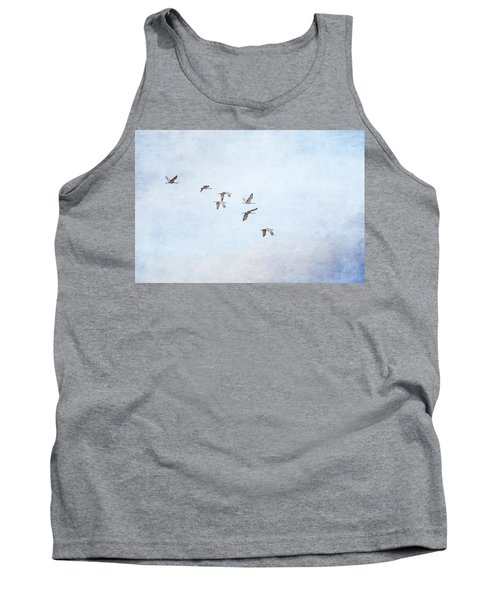 Spring Migration - Textured Tank Top