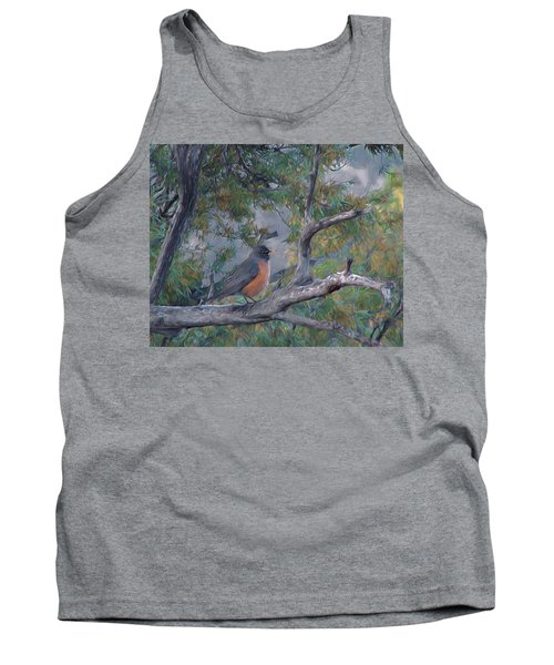 Spring Morning Robin Da Tank Top