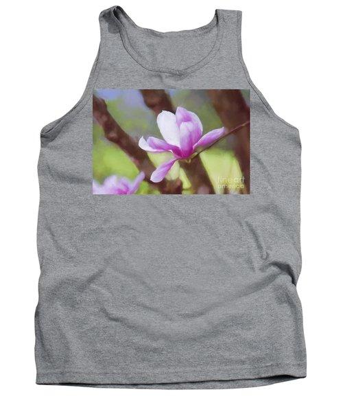 Spring Pink Saucer Magnolia Tank Top