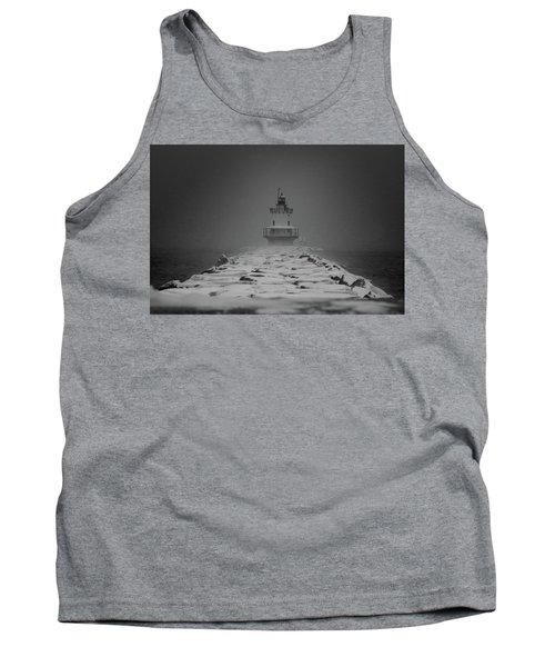 Spring Point Ledge Lighthouse Blizzard In Black N White Tank Top