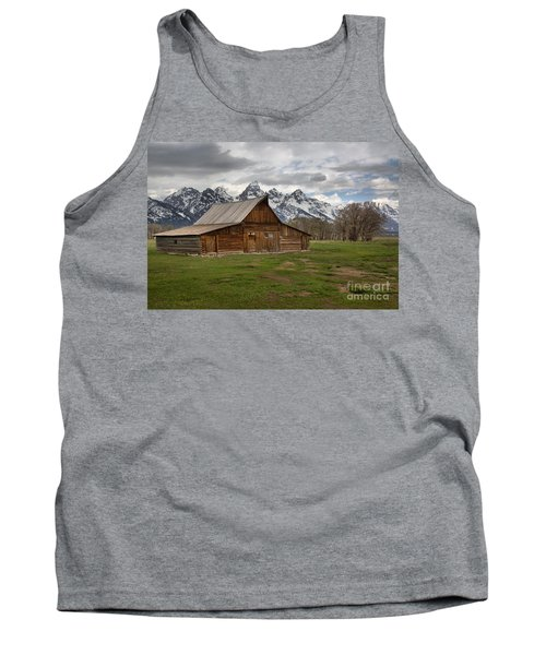 Spring Storms Over The Moulton Barn Tank Top by Adam Jewell