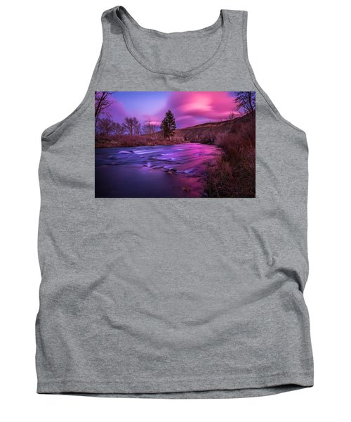 Spring Sunset Along The Truckee River Reno Nevada Tank Top by Scott McGuire
