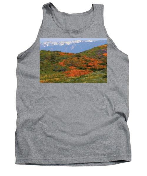 Spring Wildflower Display At Diamond Lake In California Tank Top