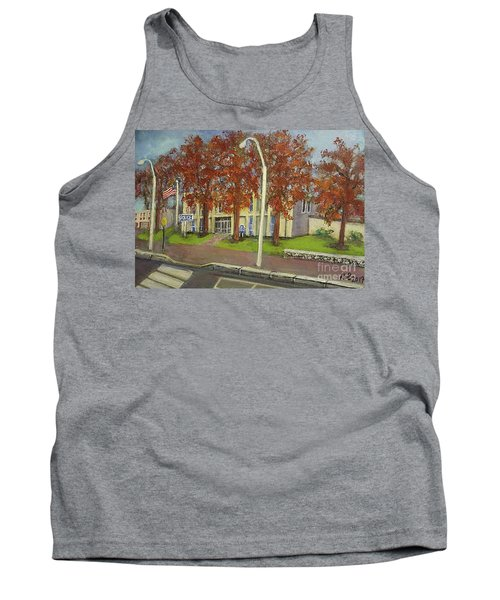 Springtime At Waltham Police Station Tank Top by Rita Brown