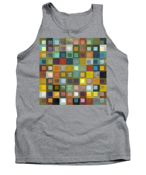 Tank Top featuring the digital art Squares In Squares Five by Michelle Calkins