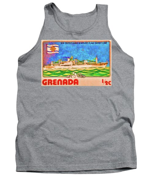 S.s Geestland And House Flag Geest Line Tank Top