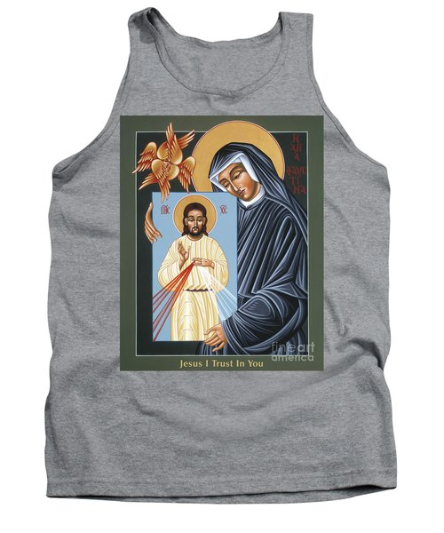 St Faustina Kowalska Apostle Of Divine Mercy 094 Tank Top