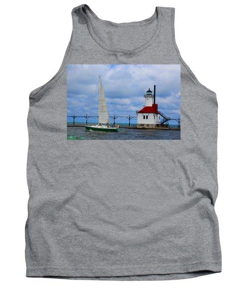 St. Joseph Lighthouse Sailboat Tank Top