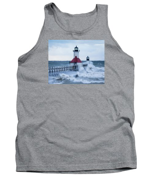 St. Joseph Lighthouse With Waves Tank Top