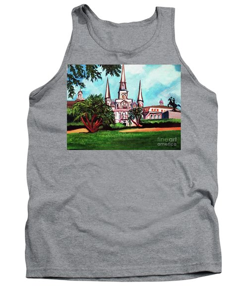 St. Louis Catheral New Orleans Art Tank Top by Ecinja Art Works