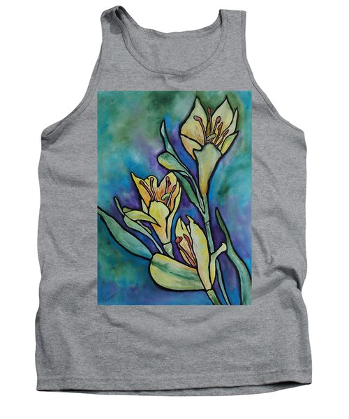 Stained Glass Flowers Tank Top