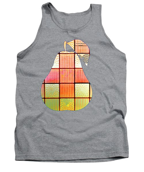 Stained Glass Pear Tank Top