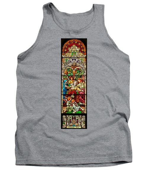 Tank Top featuring the photograph Stained Glass Scene 1 - 4 by Adam Jewell