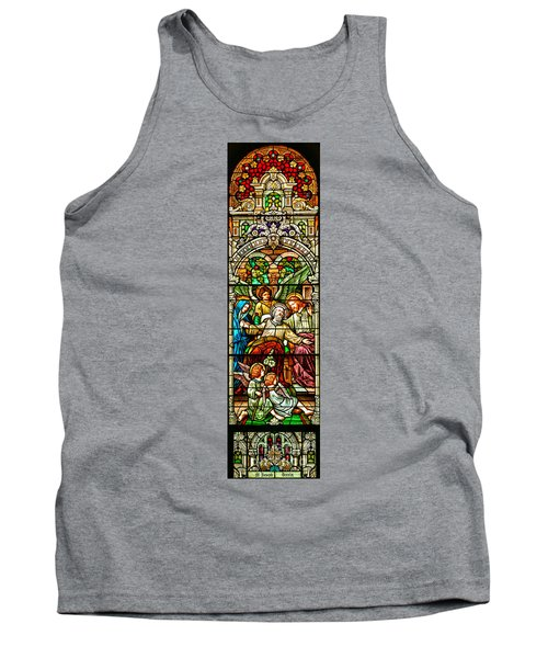 Tank Top featuring the photograph Stained Glass Scene 1 by Adam Jewell