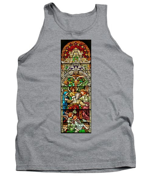 Tank Top featuring the photograph Stained Glass Scene 1 Crop by Adam Jewell