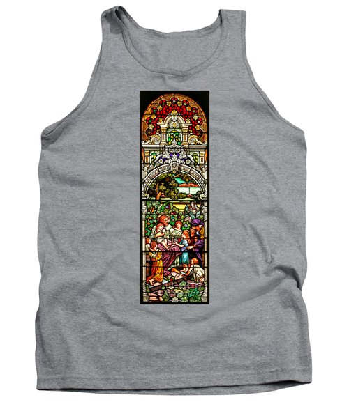 Tank Top featuring the photograph Stained Glass Scene 12 by Adam Jewell