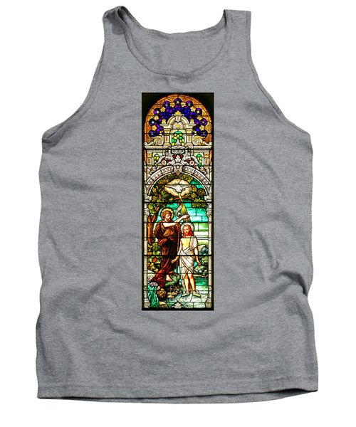 Tank Top featuring the photograph Stained Glass Scene 2 Crop 2 by Adam Jewell