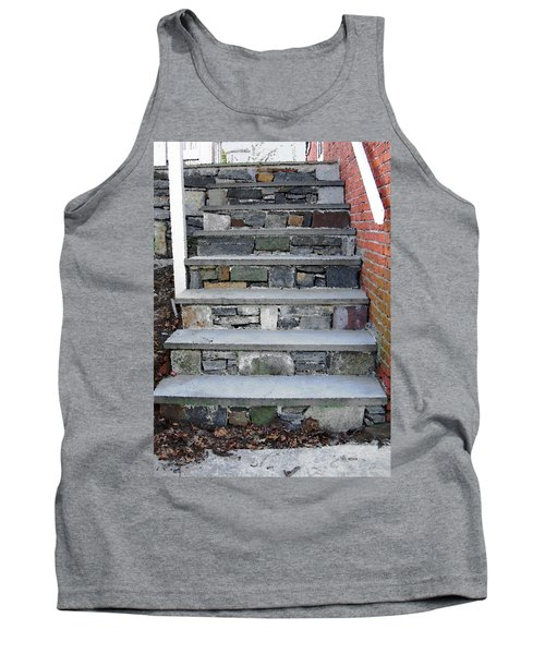 Stairs To The Plague House Tank Top by RC DeWinter