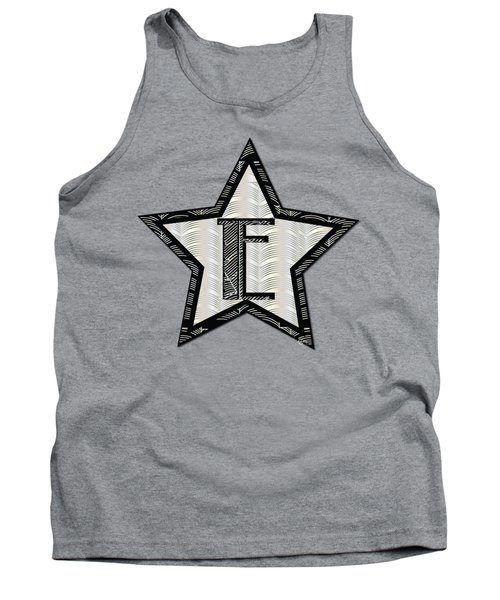 Star Of The Show Art Deco Style Letter E Tank Top
