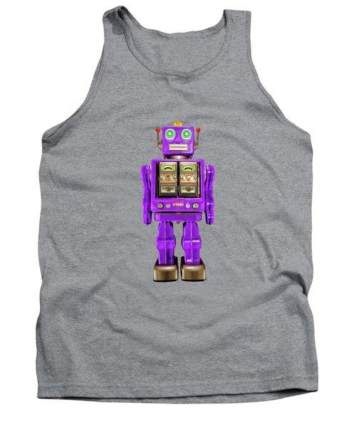 Star Strider Robot Purple Pattern Tank Top