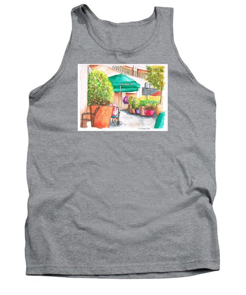 Starbucks Coffee, Sunset Blvd, And Cresent High, West Hollywood, Ca Tank Top