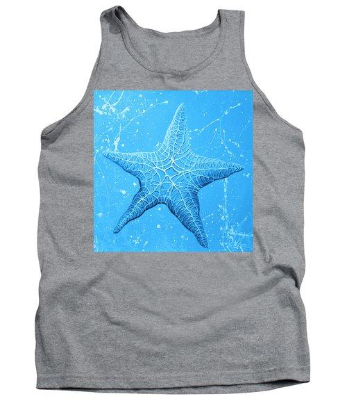 Starfish In Blue Tank Top