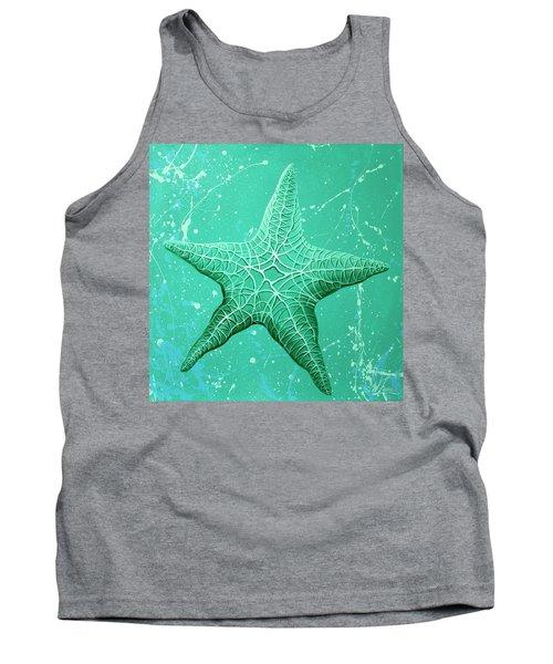 Starfish In Teal Tank Top