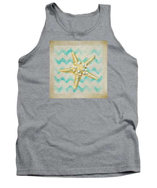 Starfish In Modern Waves Tank Top by Sandi OReilly