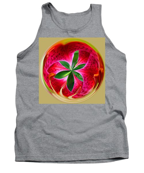 Stargazer Lily Orb Tank Top by Bill Barber