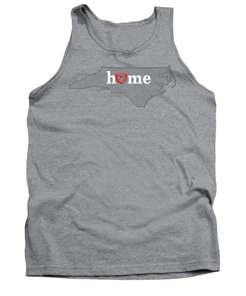 State Map Outline North Carolina With Heart In Home Tank Top