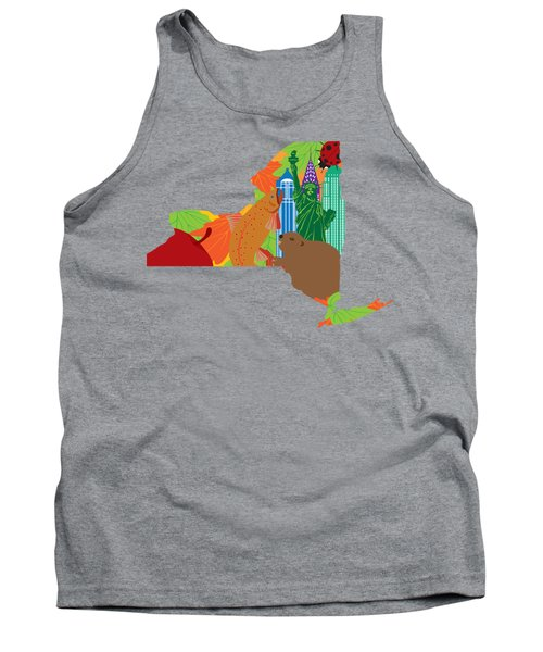 State Of New York Official Map Symbols Tank Top