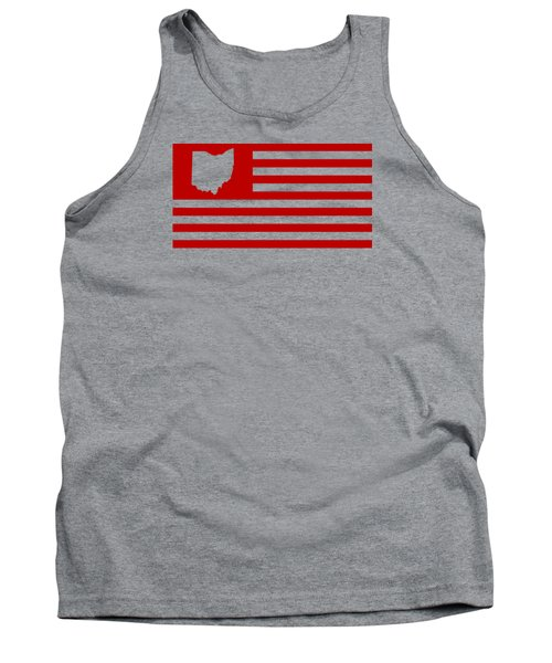 State Of Ohio - American Flag Tank Top by War Is Hell Store