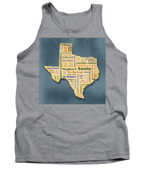 States - Famous Texas Tank Top by Ron Grafe