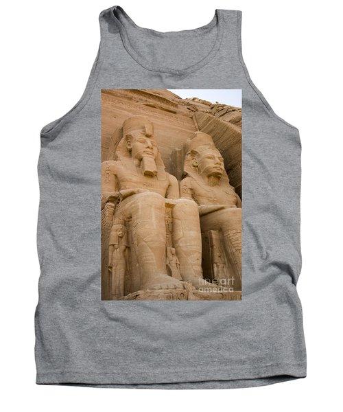 Statues At Abu Simbel Tank Top by Darcy Michaelchuk