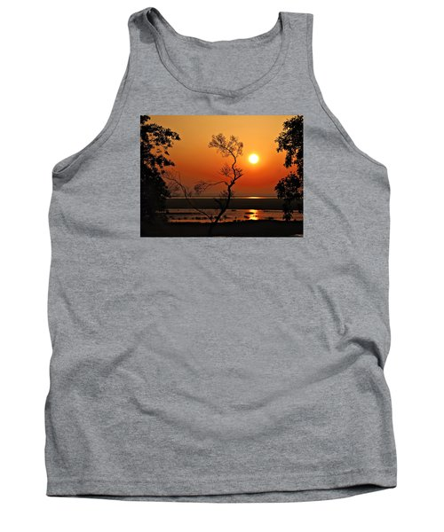 Tank Top featuring the photograph Steamy Summer Sunrise by Laura Ragland