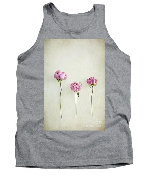 Still Life Of Dried Peonies With Texture Overlay Tank Top
