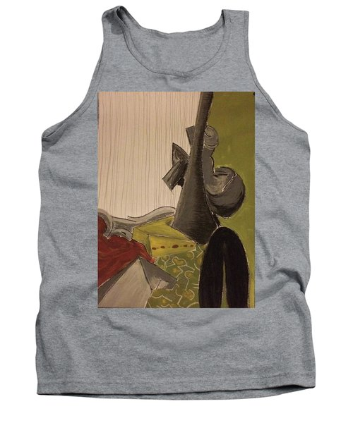 Still Life With A Black Horse- Cubism Tank Top