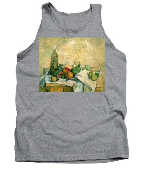 Still Life With Bottle Of Liqueur Tank Top by Paul Cezanne