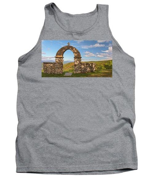 Stone Church In Autumn Tank Top