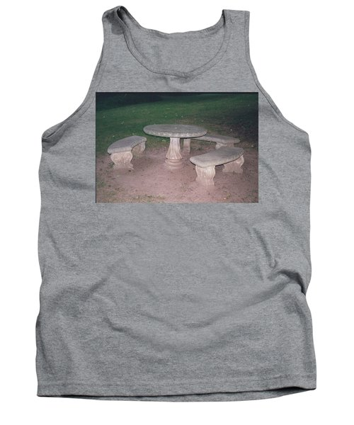 Stone Picnic Table And Benches Tank Top