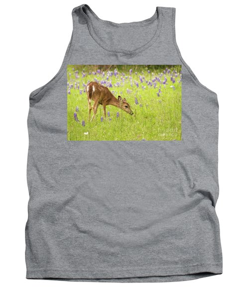 Stop And Smell The Bluebonnets. Tank Top