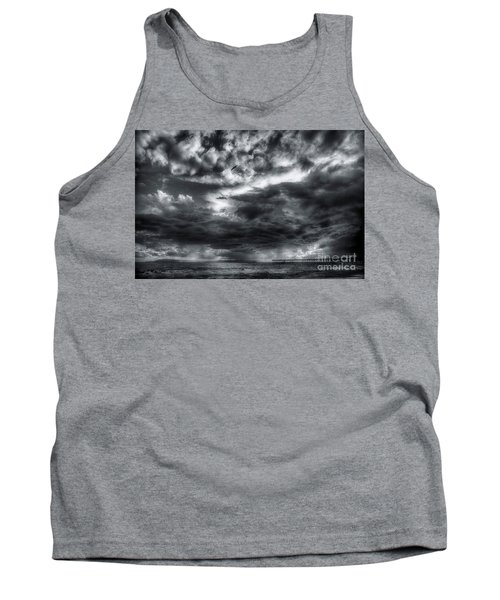Tank Top featuring the photograph Storm Clouds Ventura Ca Pier by John A Rodriguez