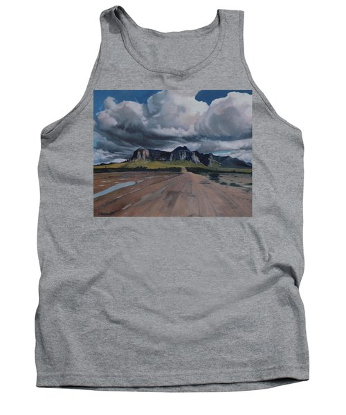 Storm Over The Superstitions Tank Top by Barbara Barber